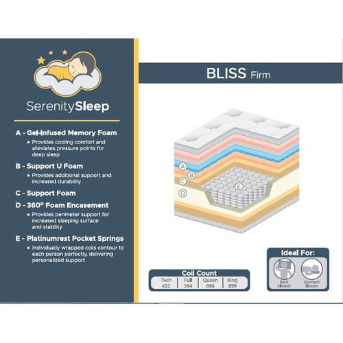 Bliss Firm Twin Mattress/Foundation 2pc Set 3/3