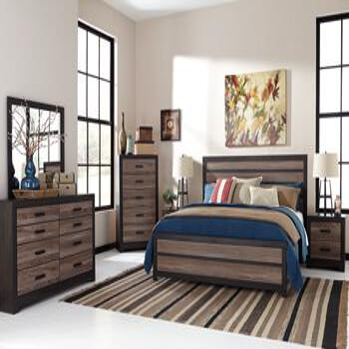 Harlinton Qn Bed, Dresser, Mirror and Nightstand
