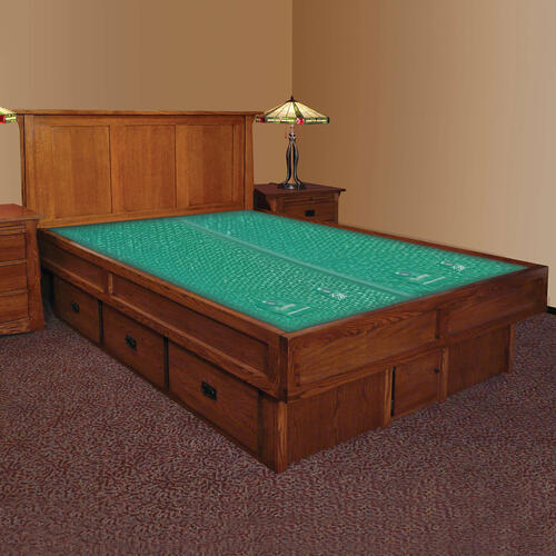 Mission Creek Waterbed With Panel Headboard & Casepieces Available in King and Queen