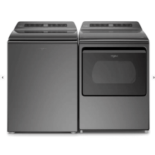 Whirlpool 2 Piece Laundry Set in Chrome W/ Pretreat Station