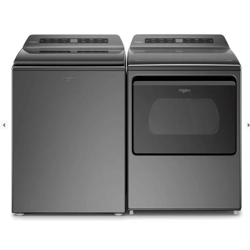 Packages - Whirlpool 2 Piece Laundry Set in Chrome W/ Pretreat Station