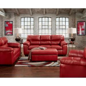 5603-AUSR  Sofa & Loveseat - Austin Red  (5601-AUSR Chair, 5605-AUSR Ottoman & 2450-AUSR Recliner)