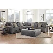 4-Piece Sectional in Graphite Steel