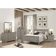 4 Piece Queen Size Bedroom Set Grey
