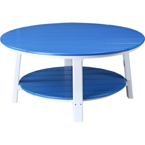 Deluxe Conversation Table Blue and White