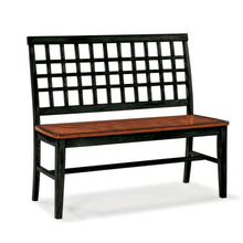 View Product - Arlington Lattice Back Bench - Black and Java