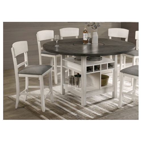 Conner 5 PC COUNTER HT DINING in Chalk Grey   (CROWN-CONNER)