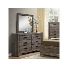 See Details - Nathan Rustic Dresser with Six Drawers