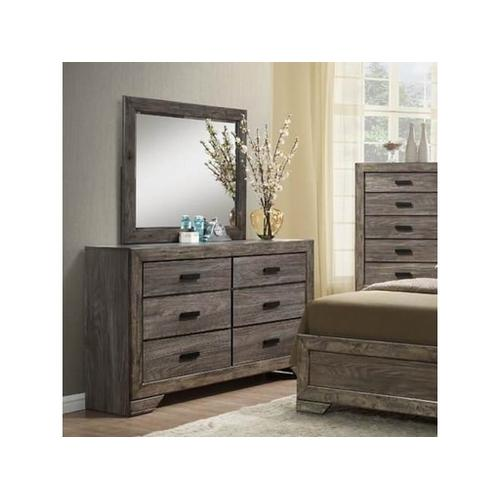 Elements - Nathan Rustic Dresser with Six Drawers