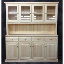 See Details - Maine Made 078/079 Quad Hutch/Buffett 68W X 43H X 19D Pine Unfinished