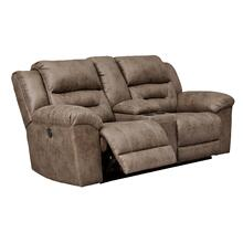 View Product - Stoneland Reclining Console Loveseat