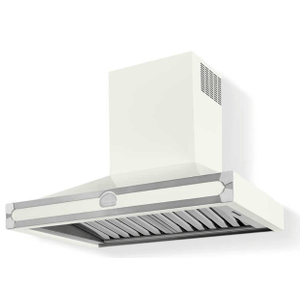Lacornue Cornufe - Pure White Albertine 90 Hood with Satin Chrome Accents