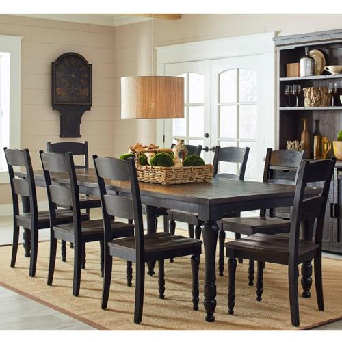 Madison County Rectangle Extendable Table & 6 Chairs