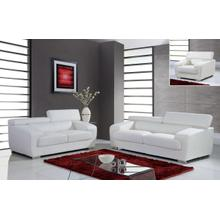 Full Leather Signature Collection - White - Loveseat