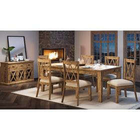 See Details - Telluride Ext Table & 4 Chairs Natural Pine