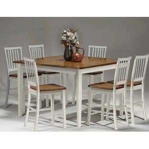 Intercon Furniture - Arlington 24 Slat Back Barstool - White and Java