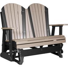 Adirondack Glider 4' Weatherwood and Black