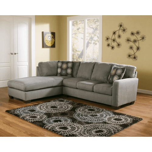 Zella - Charcoal - 2-Piece Sectional with Left Facing Chaise