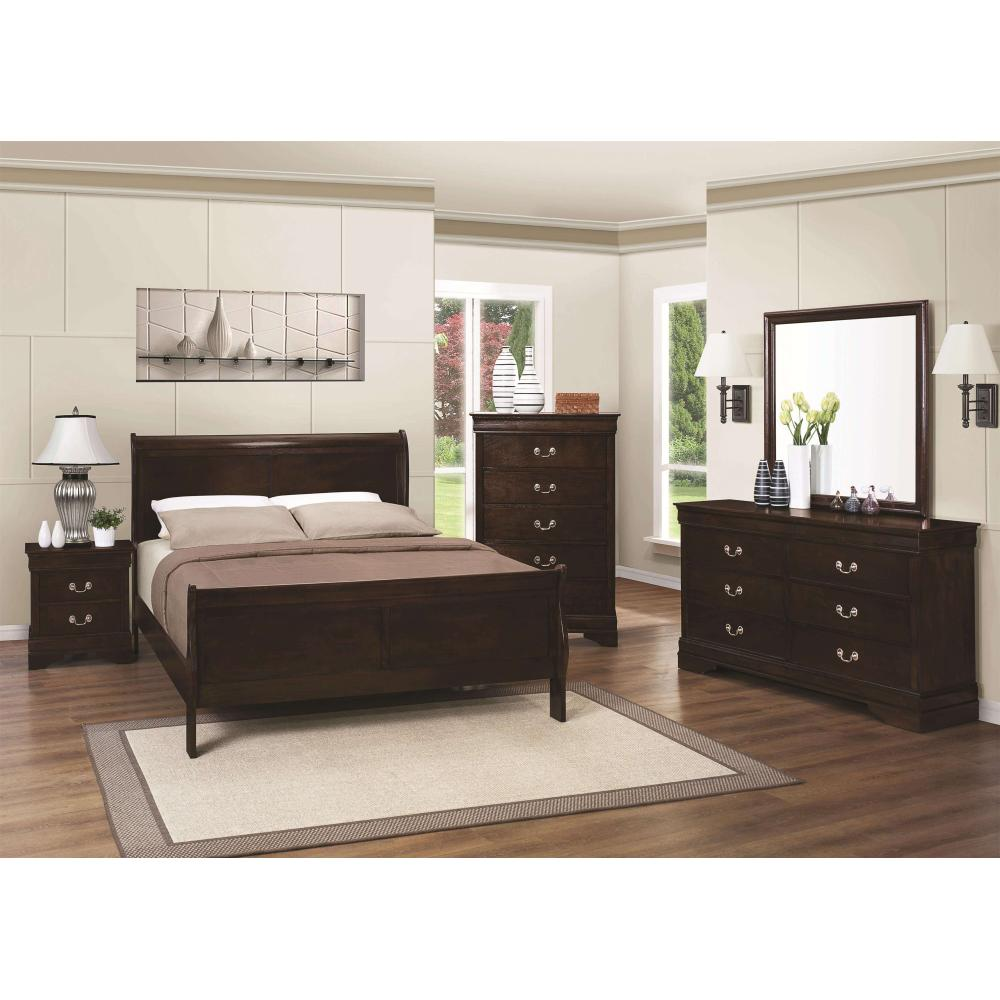 Louis Philippe 4Pc Full Bed Set