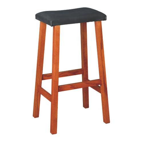 """Country Value Woodworks - 30"""" Manhattan Leather Bar Stool"""