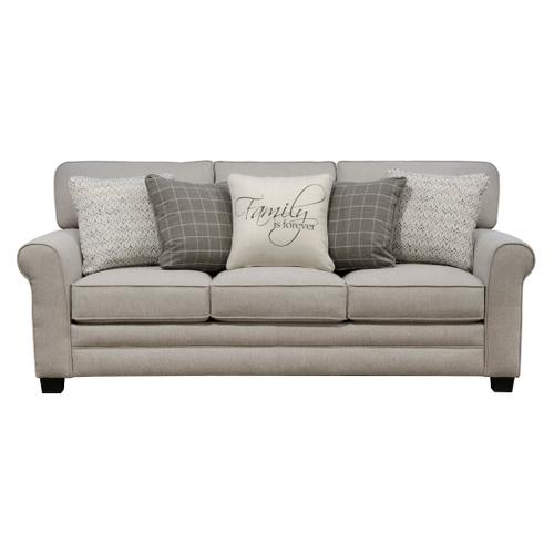 Lewiston Stationary Sofa in Cement Fabric