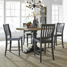 See Details - Round Dining Room Table with 4 Chairs