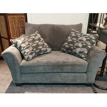 See Details - Stanton Double Chair in Domain Iron with pillows in Denali Pewter
