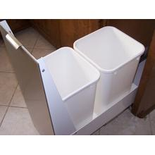 "15"" Recycling Cabinet White with Stainless Panel"