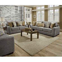 Sofa and Loveseat - Pompeii Silver