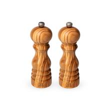 Peugeot Paris Olive Wood Pepper and Salt Mill Set, 7-Inches