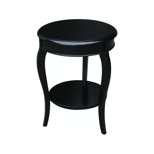 Cambria Accent Table in Solid Black