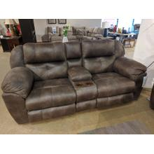 Power Reclining/Headrest Console Loveseat