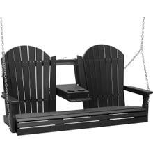 Adirondack Swing 5' Black