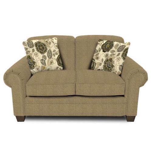 England Furniture - Philip Loveseat 1256 - Urban Wheat with Monita Adrift Pillows