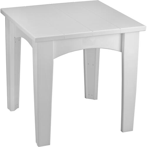 Island End Table White