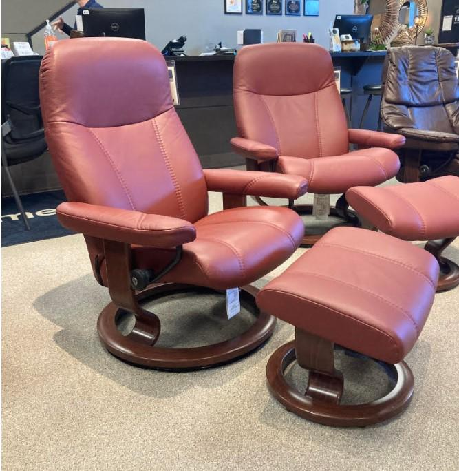 Stressless By EkornesStressless Consul Small Classic Base Chair And Ottoman