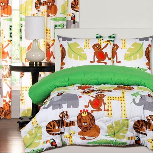 """Jungle Love"" Crayola Comforter Sets Twin"
