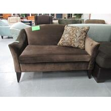 VOGEL BROWN VELOUR LOVESEAT