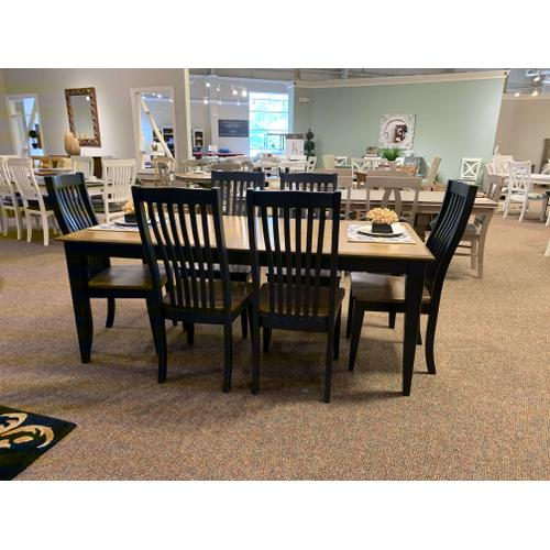 Canadel - Treo Table with 6 Royal Blue Chairs