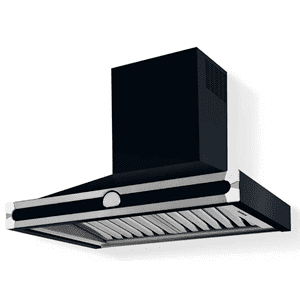 Lacornue Cornufe - Dark Navy Blue Albertine 90 Hood with Polished Chrome Accents