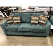 See Details - Teal Sofa