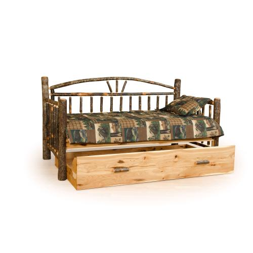 Brage Rustic Collection - Hickory Daybed with Trundle