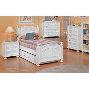 Cape Cod White Twin Panel Bed