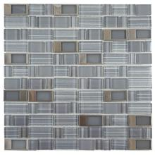 BLKT11 Blends Glass Mosaic - GREY with Stainless Buckles