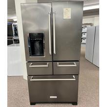 "See Details - 25.8 Cu. Ft. 36"" Multi-Door Freestanding Refrigerator with Platinum Interior Design - Black Stainless Steel with PrintShield™ Finish"