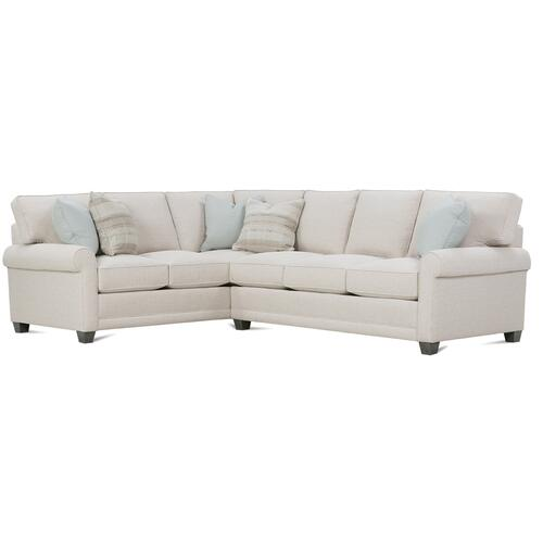 Rowe Furniture - Premium Collection - MyStyle Roll Arm Sectional
