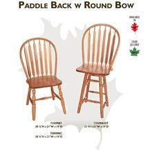 Paddle Back w/ Round Bow