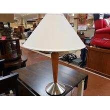 See Details - Medallion Steel/Cherry Lamp (L/STLA898)