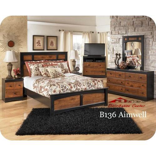 Ashley Furniture - Ashley B136 Aimwell Bedroom set Houston Texas USA Aztec Furniture