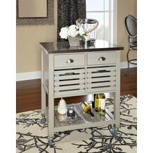 Robbin Wood Kitchen Cart Gray